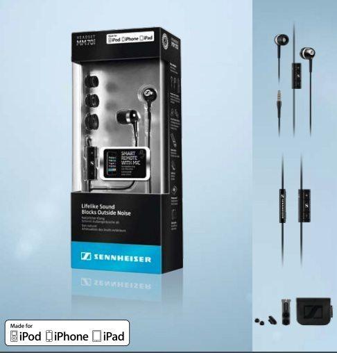 Sennheiser: MM70 Cuffie auricolari per iPhone iPad e iPod
