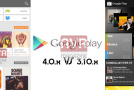 Google Play Store 4 e Google Play Store 3 Video Confronto