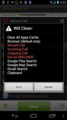 history eraser-applicazione-android-avrmagazine