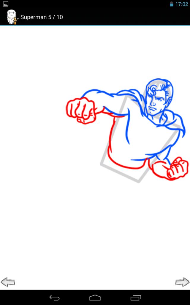 come disegnare heroes 2-applicazione-android-avrmagazine