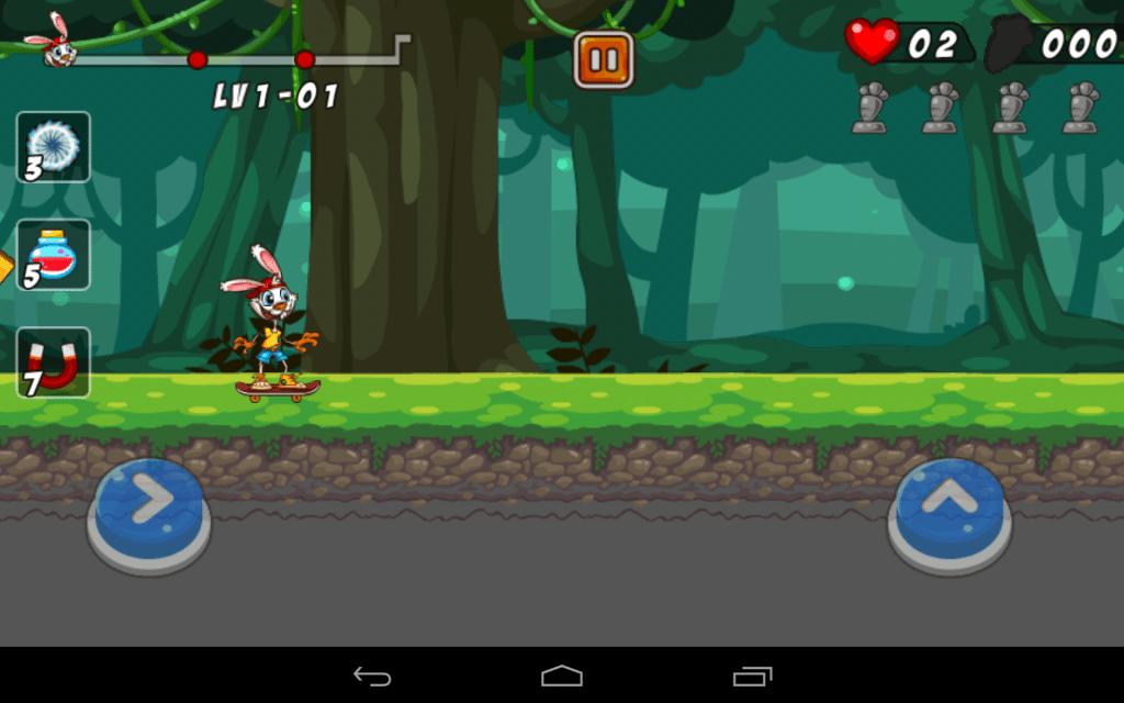 coniglio pattinatore-gioco-android-avrmagazine