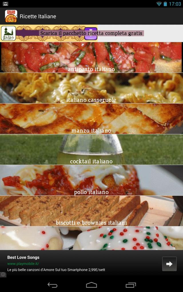 ricette italiane ricettario-applicazione-android-avrmagazine