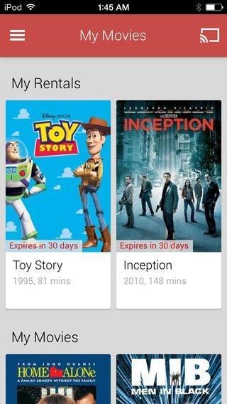 Google Play Movies & TV per iPhone e iPad, i film di Google su iOS