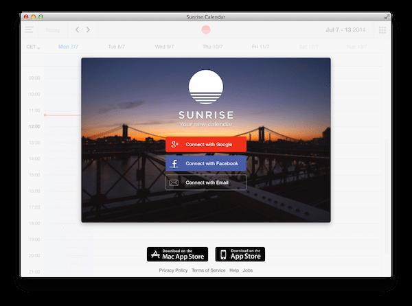 Sunrise Calendar-app-per-mac-avrmagazine