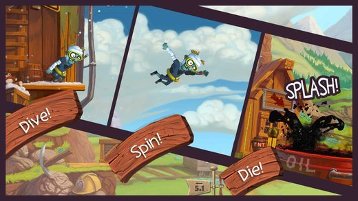 Zombie High Dive giochi per iphone avrmagazine