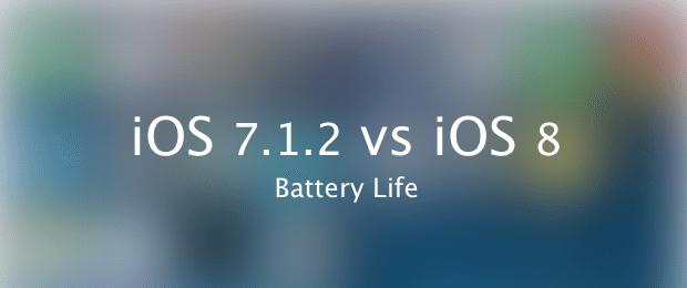 iOS 7.1.2 vs iOS 8 battery life avrmagaizne
