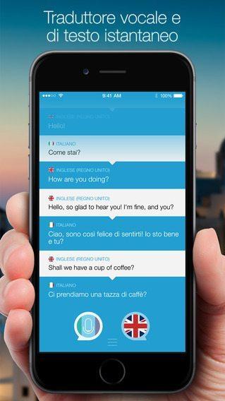 Parla e traduci il traduttore vocale per iphone e ipad for Traduttore apple