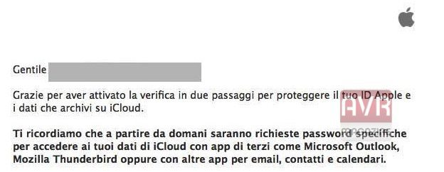 Verifica in due passaggi apple avrmagazine