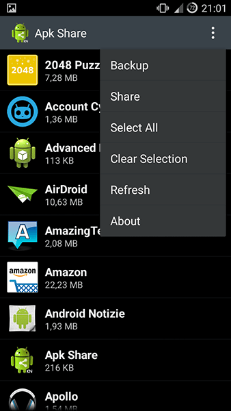 apk share2-app per android