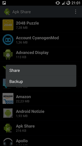 apk share3-app per android