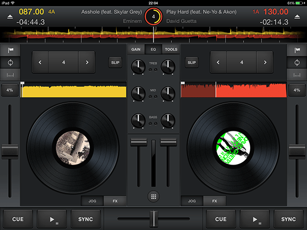 cross3 dj-app per ipad