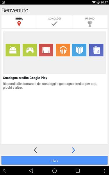 google reward-app per android