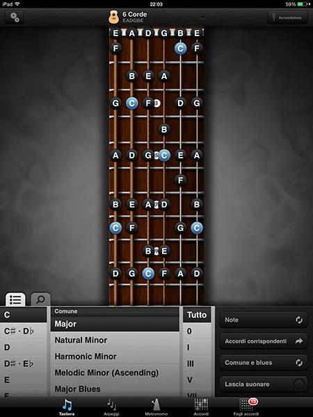 guitar toolkit-app per ipad