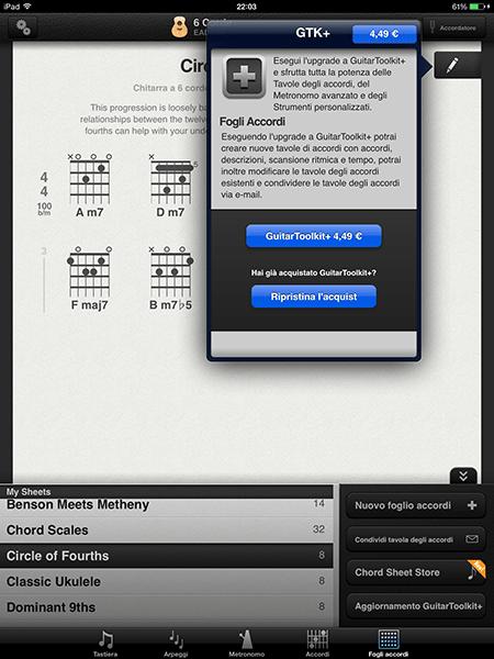 guitar toolkit4-app per ipad