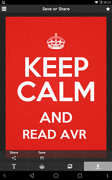 keep calm4-app per android