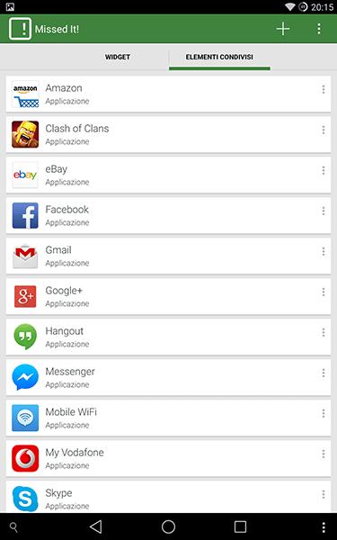 missed it-app per android