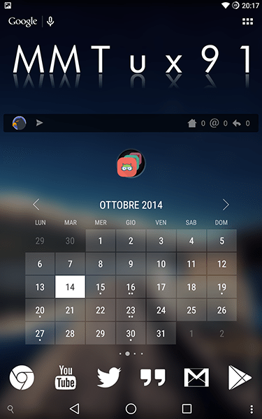 Calendario Android Widget.Month Semplice E Minimale Widget Calendario Per Android