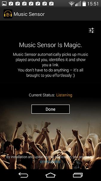 music sensor-app per android