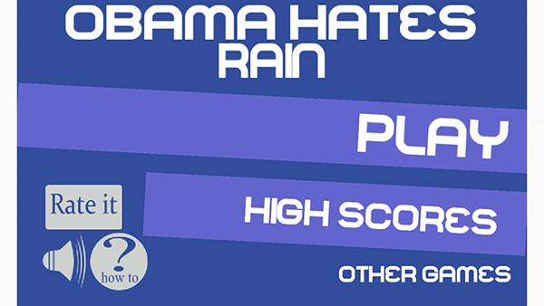 obama hates rain-giochi per android