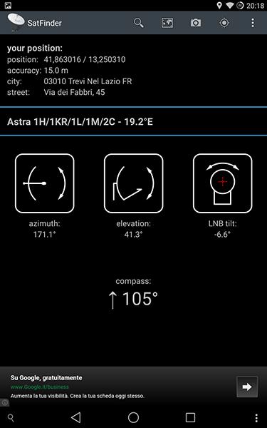 satfinder-app per android