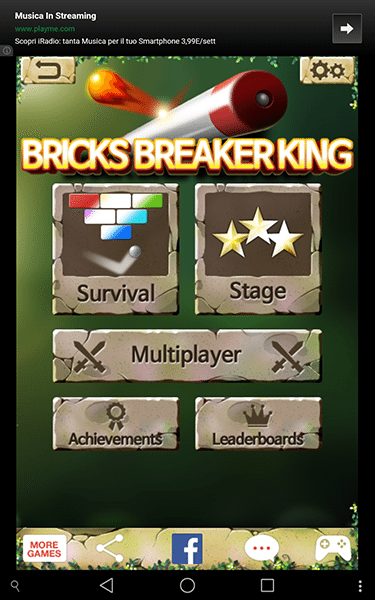 bricks breaker re-giochi per android-avrmagazine