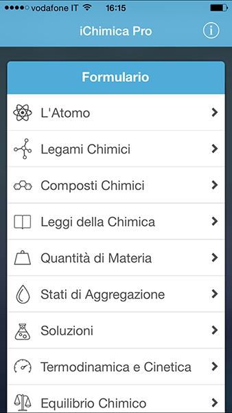 ichimica Pro-app per iPhone