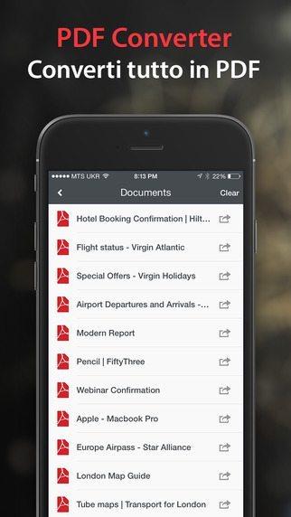 PDF Converter applicazioni per iPhone avrmagazine 2
