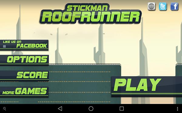 stickman roofruneer-giochi per android e ios-avrmagazine