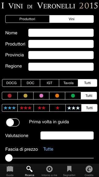 I Vini di Veronelli 2015 applicazione per iphoen avrmagazine 1