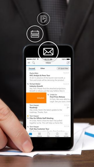 Microsoft Outlook applicazioni per iPhone avrmagazine 1