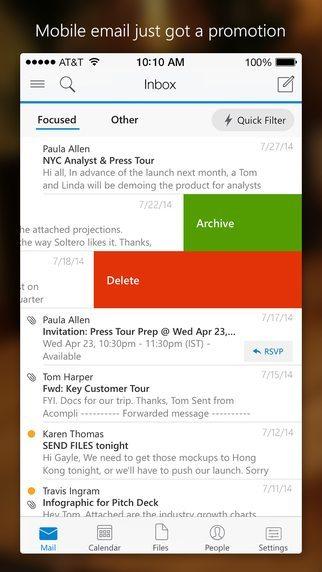 Microsoft Outlook applicazioni per iPhone avrmagazine 2