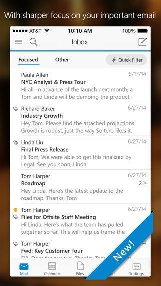 Microsoft Outlook applicazioni per iPhone avrmagazine 3