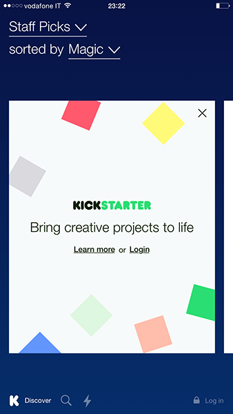 kickstarter-app ios-avrmagazine