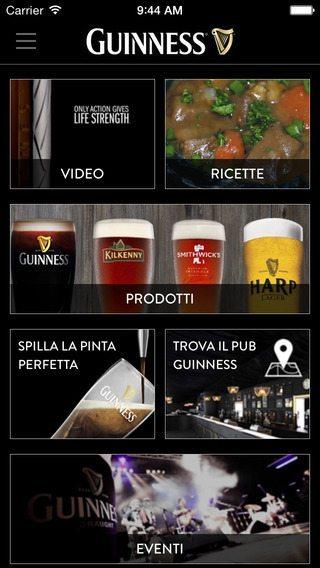 Guinness Italia applicazioni per iPhone avrmagazine
