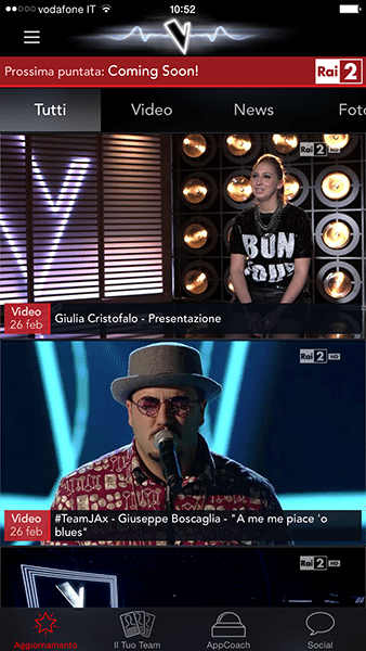 the voice of Italy-app per ios-avrmagazine