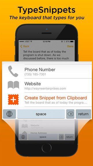 TypeSnippets applicazioni per iPhone avrmagazine
