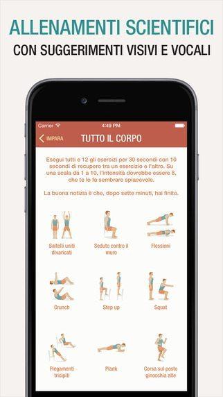 Allenamento di 7 minuti applicaizoni per iPhone avrmagazine 3