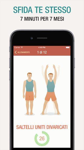 Allenamento di 7 minuti applicaizoni per iPhone avrmagazine 4