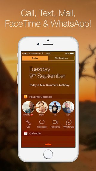 Favorite Contacts Launcher applicazioni per iPhone avrmagazine 1