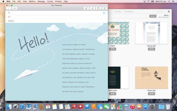 Mail Stationery applicazioni per mac avrmagazine