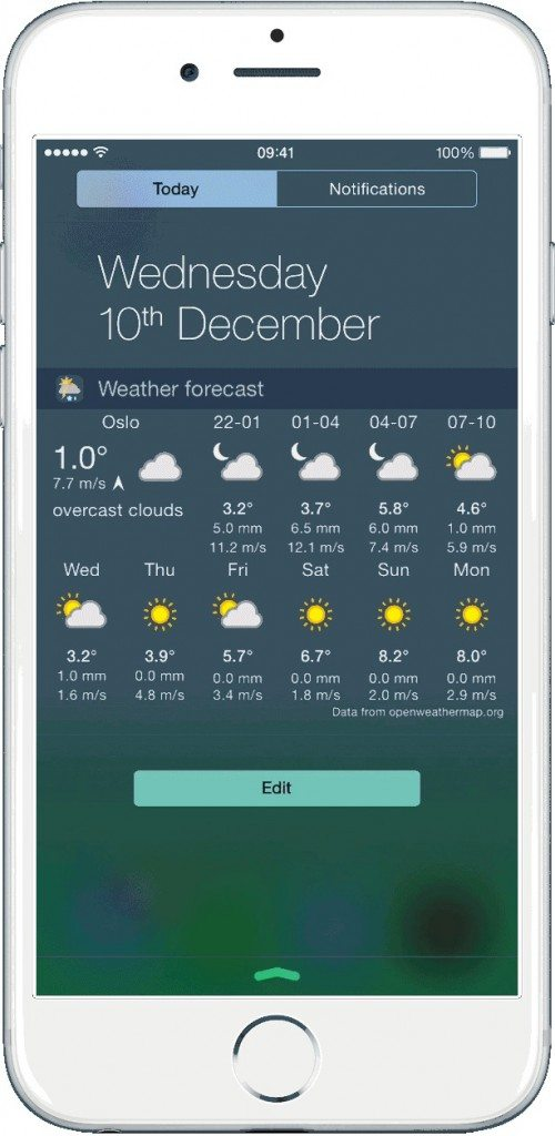 Widget Weather applciaizoni per iPhone avrmagazine2