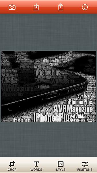 wordfoto-app per ios-avrmagazine