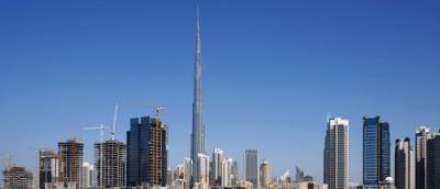Skyline di Dubai con il Burj