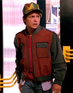Michael J. Fox (Marty McFly)  in Ritorno al futuro 2