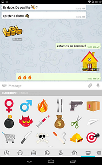Telegram con Anyways e Smart Emoticons