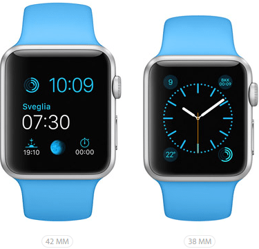 Apple Watch Sport Azzurro