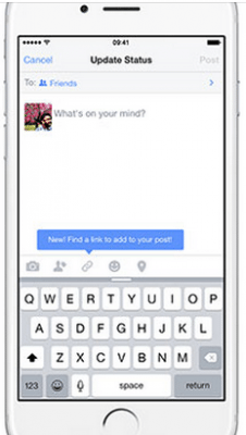 Facebook per iOS cerca i link in-app