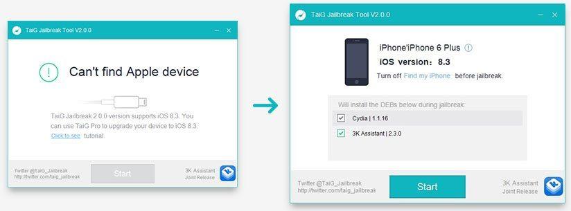 Jailbreak iOS 8.3 Taig 2.0 avrmagazine 2