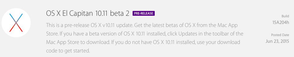OS X el capitan beta 2 avrmagazine