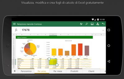 Pacchetto Office Excel applicazioni per android avrmagazine